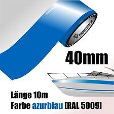 ZIERSTREIFEN 10m AZURBLAU 40mm Auto Boot Jetski Modellbau Vinyl Dekorstreifen