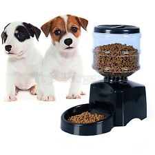 5.5L Black Automatic Pets Feeder Machine Digital Cat Dog Food Bowl Dispenser LCD