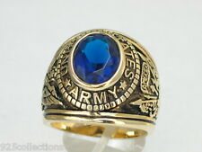 12X10 mm United States Army Military September Montana Birthstone Men Ring 12