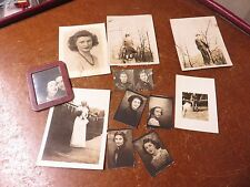 Vintage Lot of 11 1940's 1950's Old Photo Pictures