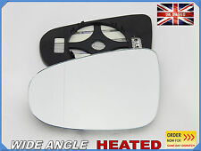 Vw Golf VI 2009-2014 Wing Mirror Glass Aspheric HEATED Left Side #1043