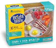 Pretend Play Food Kitchen Toy Set - Orange Bacon Egg Cook Breakfast Toast