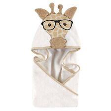 Hudson Baby Animal Face Nerdy Giraffe Hooded Towel for Baby Boys & Girls