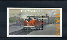 Gambia 2002 MNH World of Trains 1v S/S Railways Züge Treni Chemin de Fer Stamps