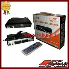 DECODER DIGITALE TERRESTRE REGISTRATORE PORTA USB AVI RADIO SCART TV MP3 DVB -T