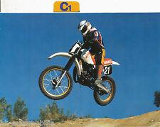 Aufkleber Yamaha YZ 125 1983 Easy Rider im Postkarten-Format  Motorrad Bike