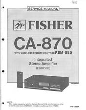 Fisher Original Service Manual für CA- 870