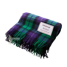 EDINBURGH - PURE WOOL SCOTTISH TARTAN RUG / BLANKET / THROW - FREEDOM