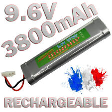 PACK BATTERIE 9.6V 3800MAH ACCU BATTERY RECHARGEABLE TAMIYA RC GRANDE CAPACITE