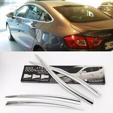 Chrome Window Visor Sun Guard  Rain Shield For Chevrolet All New Cruze 2017+