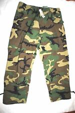 NWT US MILITARY ECWCS GORE TEX COLD WEATHER WOODLAND CAMO PANTS - LARGE REGULAR