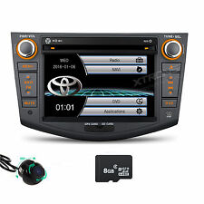 "7"" Car GPS Navigation 2DIN Stereo CD DVD Video Unit Radio Camera for TOYOTA RAV4"