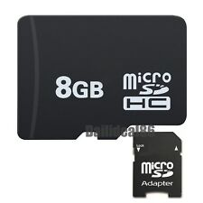 High Speed 8GB Universal Micro SD Memory Card Class 4 SDHC TF + Free Adapter
