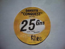 DANSETTE CONQUEST AUTO RECORD PLAYER INSTRUCTIONS/PRICE SHEET
