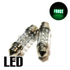 2x Green Ultra LED Festoon [264] 42mm 12v Interior Light Bulbs XE3