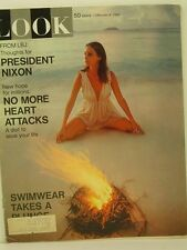 1969 Look Magazine: Swimwear/President Nixon/Heart Attacks- Diet to Save Lives