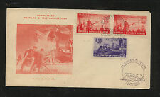Romania  727-28  on  cachet cover first day  1950             AT0529