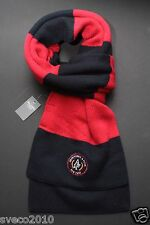 NWT ABERCROMBIE & FITCH WOMEN SCARF RED BLACK STRIPES CLASSIC WINTER SCARF NEW