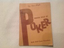 Vintage 1941 Modern Rules of Poker by Bruelheide Bridge