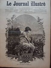 LE JOURNAL ILLUSTRE 1885 N° 1 ALLEGORIE DE L'ANEE 1885, dessin de HENRI MEYER
