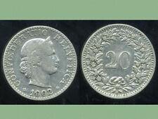 SUISSE 20 rappen 1902