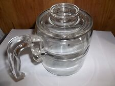 MID-CENTURY 4-CUP GLASS PYREX COFFEE POT RANGE TOP COFFEE MAKER