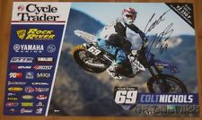 2016 Colt Nichols signed Cycle Trader Yamaha YZ250F Supercross Motocross poster