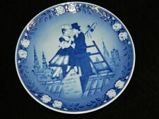 Hand Signed Royal Copenhagen Collector Plate Shepheress & Chimney Sweep 1983