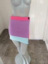 Topshop Size 10 Muli Colorado Print Asymmetric Body Con Mini Skirt Or Top BNWT