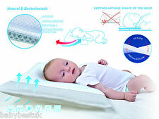 Baby White Infant Support Cot Pillow Prevents FLAT HEAD SYNDROME PLAGIOCEPHALY