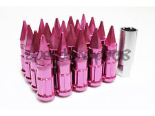 Z RACING PINK SPIKE LUG NUTS 20 PCS 12X1.25MM STEEL EXTENDED TUNER KEY