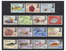 Mauritius - 1969/73, 5c - 10r Fish (Less 2c, 3c, 4c) - F/U - SG 385/99