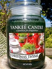 """Yankee Candle """"CHRISTMAS THYME""""  22 oz. European~NOT YET RELEASED! NEW!"""