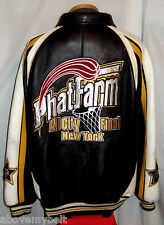 "PHAT FARM ""ALL AMERICAN"" LEATHER Jacket/Coat**4XL***$650.00***EXCELLENT"