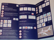 avion LATAM AIRBUS A320-200 Safety card CONSIGNE SECURITE INSTRUCTION securidad