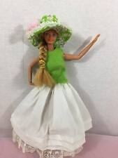 Vintage 1966 Mattel Inc Taiwan with dress Blue Eyes Blonde Barbie Doll