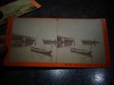Ancienne Photographie Relief Visionneuse Evian et le port : Charnaux Genève