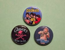 "3 1"" Goonies Truffle Shuffle Spielberg 80's movies - pinback badges buttons"