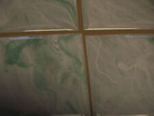 "LIGHT GREEN SEAFOAM MARBLE PLASTIC TILE 4 1/4"" wall bathroom kitchen polystyrene"