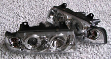 Chrome finish Angel Eyes Headlights front lights for BMW E36 COMPACT