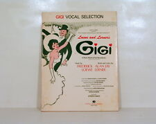 ORIGINAL GIGI VOCAL SECTION SONGBOOK PHOTOS SHEET MUSIC BROADWAY MUSICAL VERSION