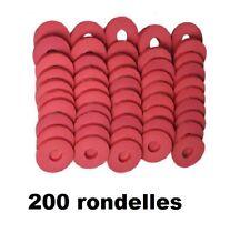 200 RONDELLE CAOUTCHOUC POUR BOUCHON MECANIQUE UTILISEE BOUTEILLE CIDRE LIMONADE