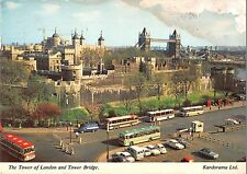 BR51767 The Tower of London and tower bridge bus autobus London