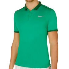 NIKE MEN TENNIS POLO GOLF SHIRT SIZE LARGE NWT GREEN 728947 DRI-FIT COLORDRY