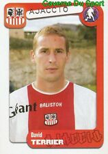 016 DAVID TERRIER FRANCE AC AJACCIO WEST HAM STICKER FOOT 2005 PANINI