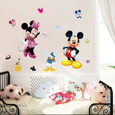 Mickey Mouse Minnie Vinyl Wall Sticker Decals Kids Nursery Girls Home Decor