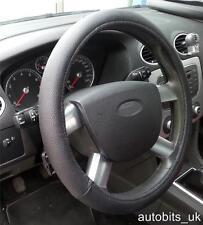 Universal Negro fácil de ajustar la respiración Antideslizante Cuero coche volante cubierta