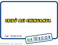 """Adesivo per visiera Casco """"Tribù dei Chihuahua"""" 15,4x1,2c-Valentino Rossi MotoGP"""
