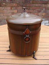 ART Deco Carbone Scatola decorativa rotonda in rame/ottone a tamburo vintage Fire NAVE globale