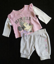 Baby clothes GIRL newborn 0-1m 9lbs/4.1kg Disney Minnie Mouse top/soft trousers